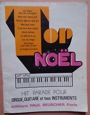 #) TOP NOËL hit parade pour orgue, guitare et tous instruments - Beuscher 1979