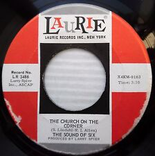 SOUND OF SIX Church on the corner Happiness is Holly 1969 pop 45 on LAURIE e5896