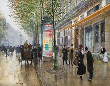 Beraud Jean The Major Boulevard Cafe Americain Canvas 16 x 20  #7038