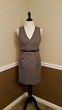 NWT Modcloth Tracy Reese Black & Tan Houndstooth Dress 10 Internship Ready $257