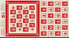 Scandi Advent Calendar NEW 2016 Makower 1595/1 fabric panel pockets advent