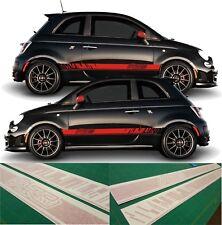 Fiat 500 595 ABARTH bandes latérales Graphics decals autocollants vinyls toutes les couleurs