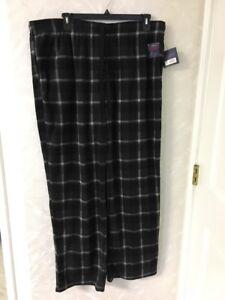 New Croft & Barrow Men`s Sleepwear Pants Big & Tall 2 X LT Gray & Black