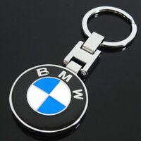 Car Double Side Logo Keychain Ring Chrome Pendant Key Holder Key Chain For BMW
