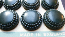 12 Racing Green Bakelite Buttons- 2.2cm - on Original Display Card