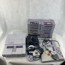 Super Nintendo SNES 3 Controllers 20 Games