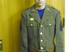US ARMY WW2 WOOL OD, MASTER  SGT'S  4-pocket JACKET,  CBI theater, , VG cond
