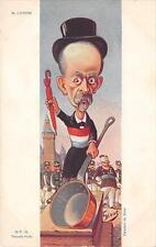 CPA THEME POLITIQUE ILLUSTRATEUR SIRAT FIGURANT M.LEPINE (dos non divisé)