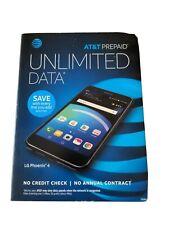 LG Phoenix 4 LM-X210APM - 16GB - Black (Locked) New in Box AT&T prepaid