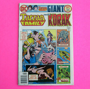 TARZAN FAMLILY & KORAK Volume #13 Issue #62 (DC Comic Book) Vintage 1976 Jungle