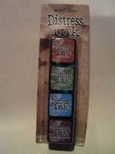 TIM Holtz Distress Ink MINI PACK KIT # 2 tdpk40323 NUOVO con confezione 4, Mini ink PADS * LOOK *
