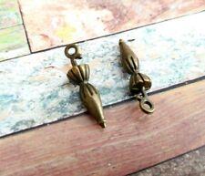 2 Umbrella Charms Pendants Antiqued Bronze 2 Sided Rain Pendants