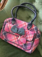 Ness Of Edinburgh Pink Tartan Tweed Bag