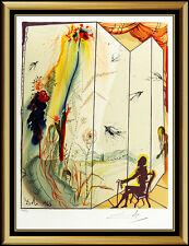 Salvador Dali Marquis De Sade Original Lithograph Hand Signed Authentic Surreal