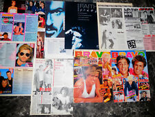 GEORGE MICHAEL + WHAM  42  TEILE/PARTS  CLIPPINGS LOT   0518