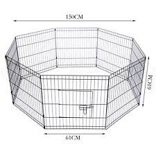 61x61cm Folding Pet Play Pen Dog Rabbit Puppy Playpen Cage Run Fence Garden