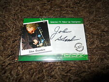 CSI Autograph Trading Card Very Limited John Goodwin Special FX Make-Up CSI-A15