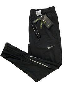 Nike Phenom Elite Mens Reflective Running Pants Black silver Sz large CV7437-010