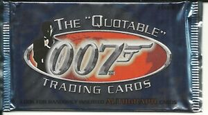 The Quotable James Bond two sealed hobby packs by Rittenhouse  2004