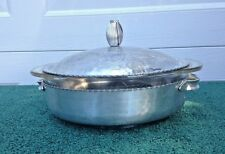 Vintage Mid Century Hammered Aluminum with Pyrex Casserole Dish Inside