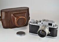"RARE RUSSIAN USSR ""ZORKI 3m"" LEICA COPY CAMERA + JUPITER-8 lens, f2/50"