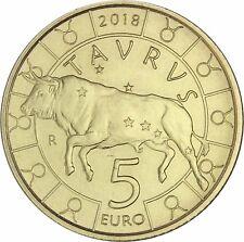 San Marino 5 Euro 2018 prägefrisch Zodiak Serie Stier Taurus in Münzkapsel