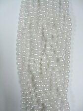 Stranded String Plastic Beads, Pearlized Imitation Pearl Enamel Beads 8mm 2 str