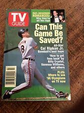 TV Guide July 1995 Baseball's Season of Penance Cal Ripken Jr cover  Missouri ed