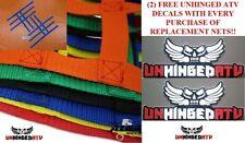 GREEN! Honda TRX450R Replacement Nerf Bar Nets for Alba,Tusk,Silver Tech, & Rock