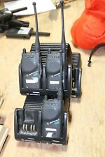 LOT OF 3 Motorola Visar Radio WITH 3 CHARGERS