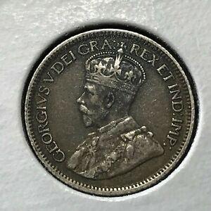 1916 CANADA  SILVER 10 CENTS HIGH GRADE COIN