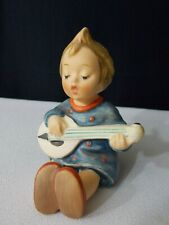 "Hummel Figurine """"Joyful"" Girl playing guitar approx 4 inches"