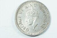 Moneda India Británica 1/2 Rupia 1943 Jorge VI Plata  | World Coins