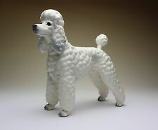 White Poodle Show Clip Dog Porcelain Figurine NEW Repro Japan