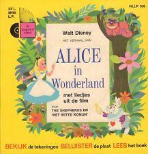 "WALT DISNEY - ALICE IN WONDERLAND 1968 VINYL EP 7"" + BOOK HOLLAND)  )"