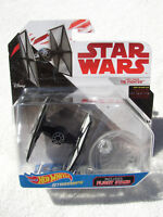 STAR WARS TLJ HOT WHEELS STARSHIPS FIRST ORDER TIE FIGHTER w/ PIVOTAL STAND NIP!