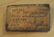 """Vtg 1948 'Angling' """"California Fishing License"""" Plastic Holder Case~"""