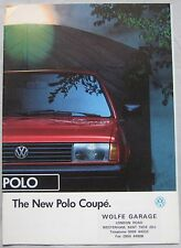 1991 VW Polo Coupe Brochure Publication Number 020/1190.57.25