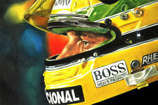Ayrton Senna McLaren Honda Helmet Visor Formula 1 F1 CANVAS Art Print New Poster