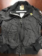 PJS Parajumpers Midseason Lightwieght Season Black Bomber Jacket Sz 2XL XXL EUC