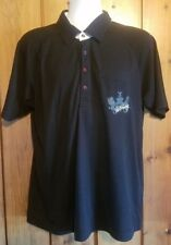 Billabong Slim Fit Polo Pocket Shirt Large embroidered Rasta colored button snap
