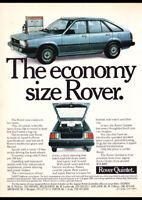 """1983 ROVER QUINTET AD A4 CANVAS PRINT POSTER 11.7""""x8.3"""""""