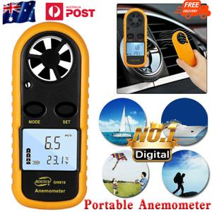Digital Anemometer Wind Speed Gauge LCD Display GM816 Portable Handheld Airflow