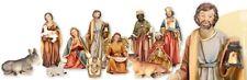 Xmas Nativity Set Traditional Christmas Figures Decoration 14 cm Multicolour