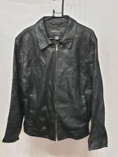 Banana Republic Black Leather Jacket Large
