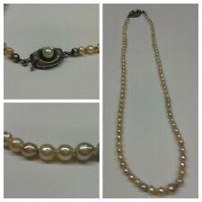 collana argento collana di perle 925 argento 38 cm lunghezza