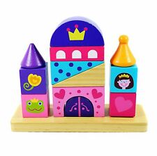 Wooden Stacking Blocks Toy, Princess Stacker Blocks, Wooden Toddler Toys
