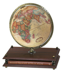 "Replogle Premier World Globe 12"" Antique Ocean. Brand New!"