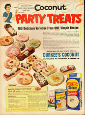 """1954 Vintage ad for DURKEE""""S Coconut~Cookies`recipe (122913)"""