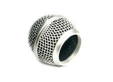 1x Mesh Mikrofon Gitter passend für Shure SM58 565SD, Druckguss Silber versilbert